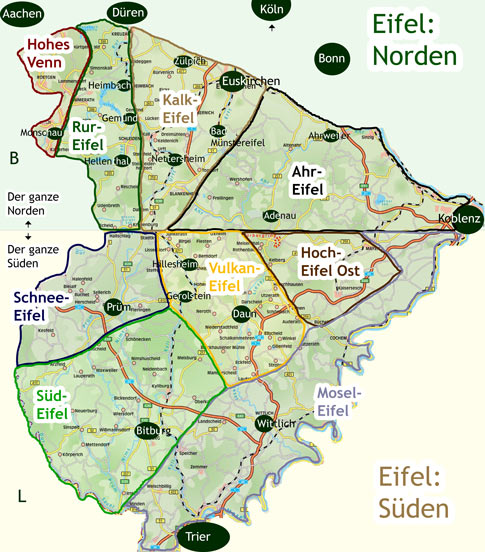 Nationalpark Eifel Karte.Eifel Reiterhöfe Verzeichnis